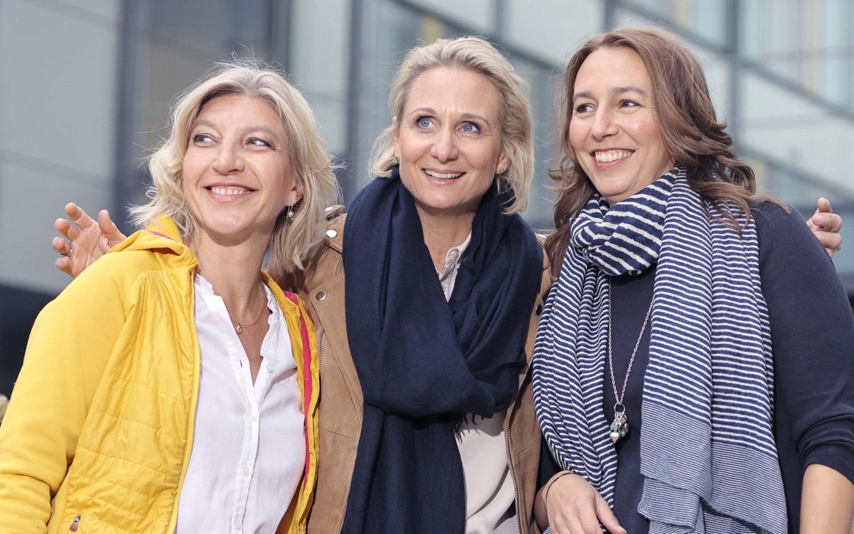 The LOOQ team. From left: Caroline Trost, Elena Bichelmeier and Katja Tricks.