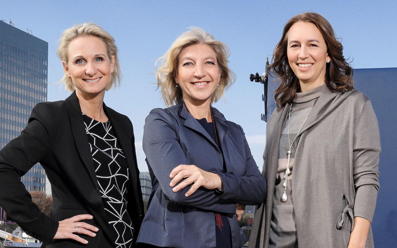 The LOOQ team. From left: Elena Bichelmeier, Caroline Trost and Katja Tricks.
